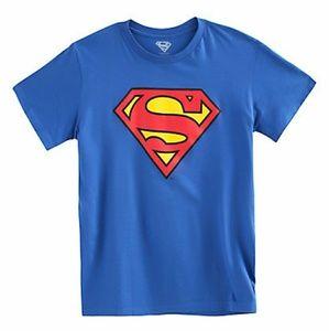 💖DC Comics Superman Glow In The Dark Logo T-Shirt